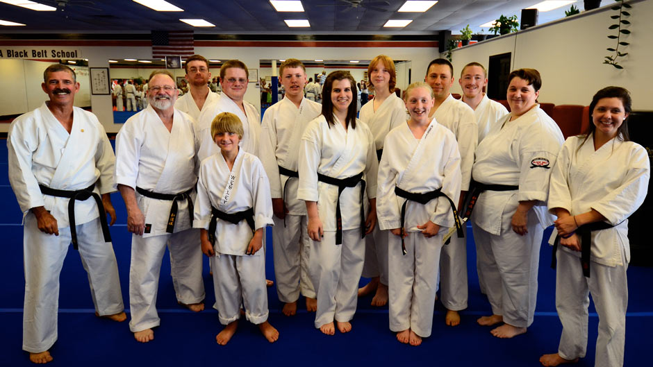 Graduating Karate Black Belt Class June 2012