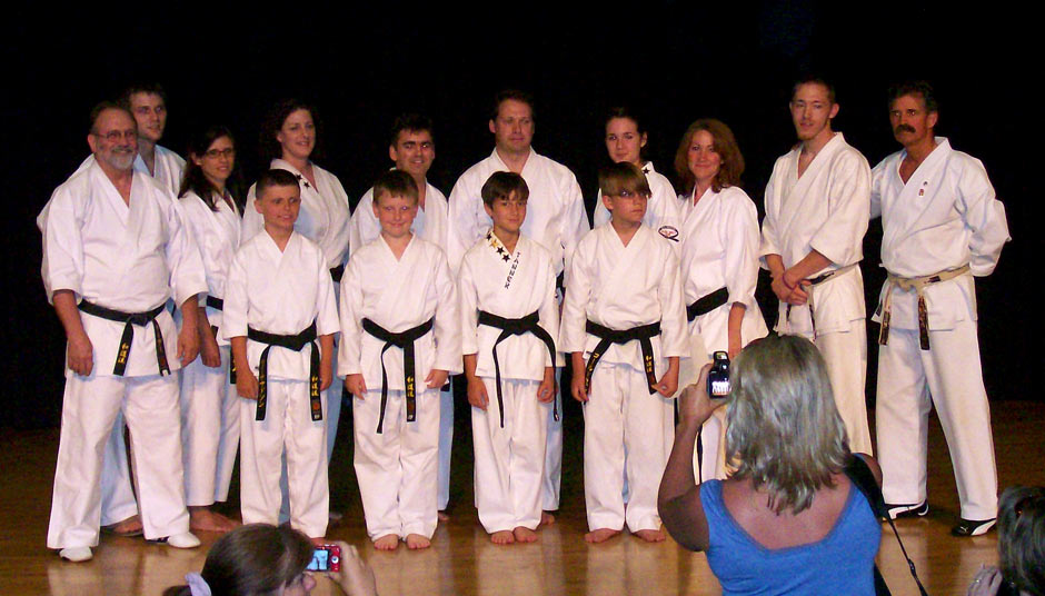 Karate Black Belt Graduation June 2009