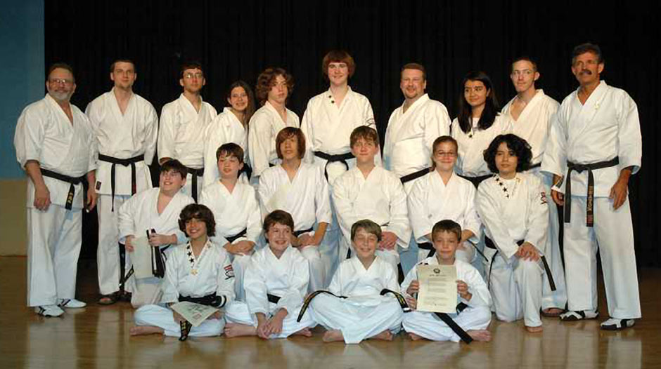 Deaton Karate Wado Ryu Black Belt Graduates May 31 2008