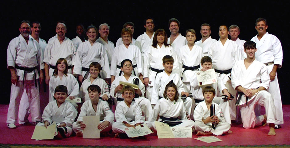 Wado Ryu Karate Black Belt Graduation Class Oct 28 2006