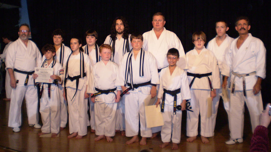 Wado Ryu Karate Black Belt Graduation Oct 27, 2007