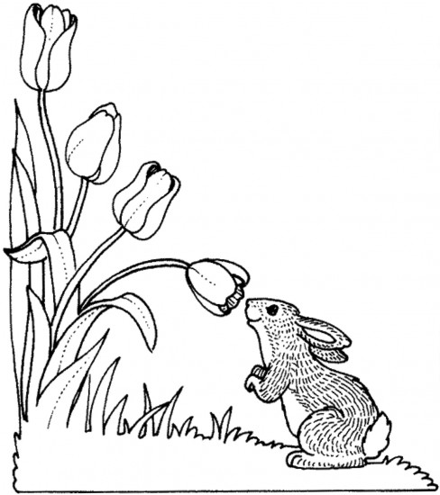 Color the Easter Rabbit