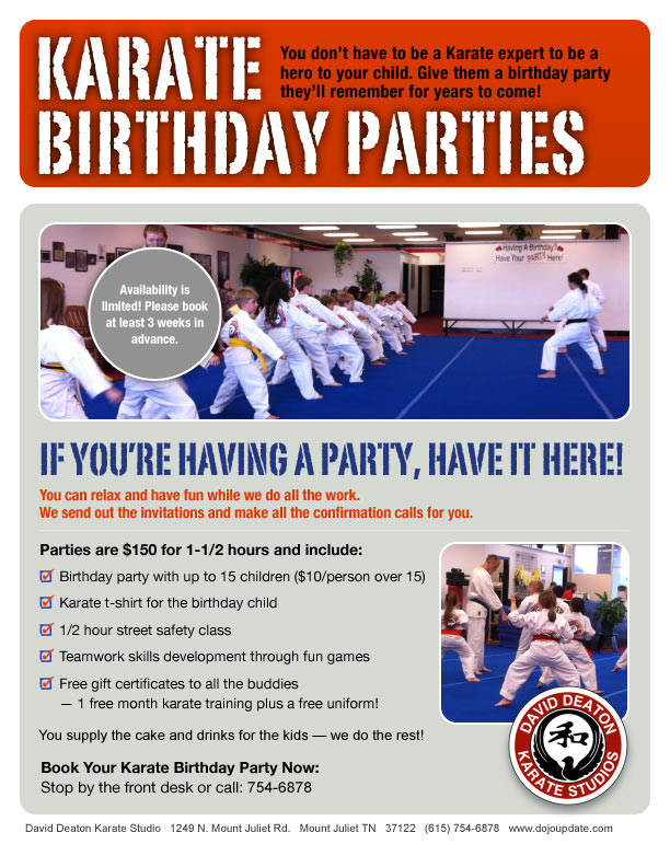 Karate Birthday Parties Kids Martial Arts Birthday – Martial Arts Birthday Invitations
