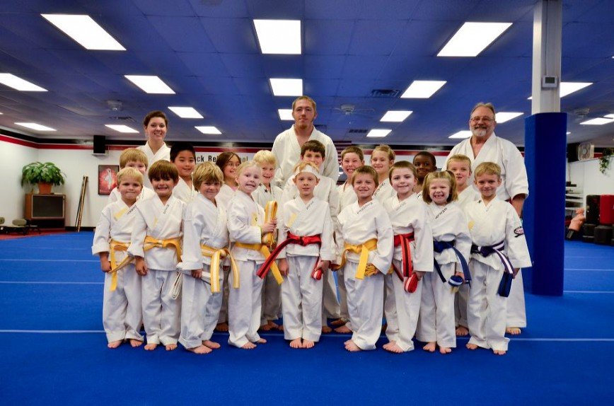 Little Dragons Karate Graduation Class Picture