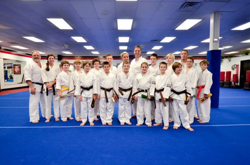 Adult Karate Graduation Class Picture