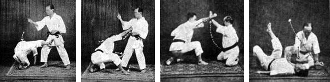 Hironori Ohtsuka and Gichin Funakoshi perform Demonstration